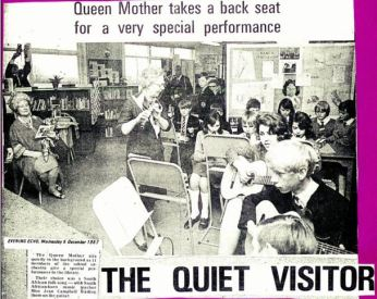 The Queen Mother Opens Wheathampstead Secondary School (1967)