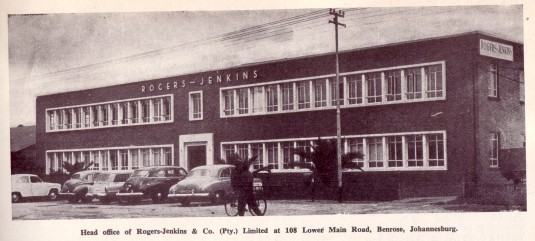 Rogers-Jenkins, Lower Main Reef Road, Johannesburg.