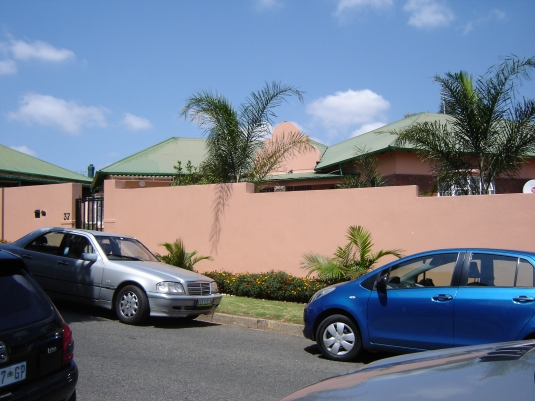 The Atwell's former residence, now with a large wall surrounding it. Photo: Rev. Fr. Stewart Peart.