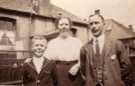George McIntyre and his parents, Mary and Duncan