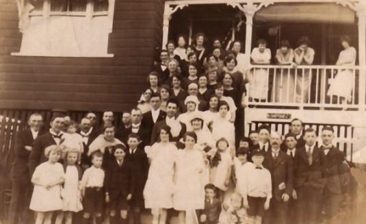 Parents' wedding in Brisbane 1925.