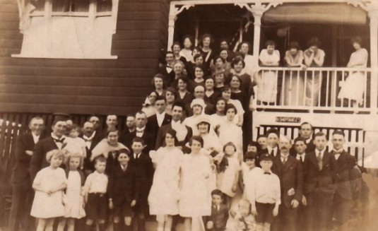 Parents' wedding in Brisbane 1925.