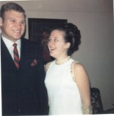 Photograph taken at a friend's wedding in 1969.