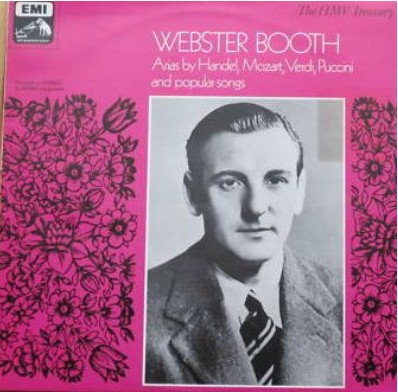 Webster Booth on LP cover