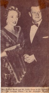 Anne at a concert with Leslie Green (1961)