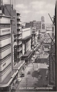 Eloff Street, looking south.