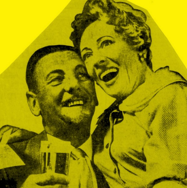 Anne and Webster in a full page advert for Skol beer (1961)