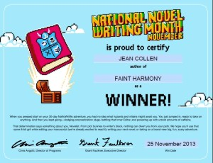 Novel completed in NaNoWriMo competition 2013.
