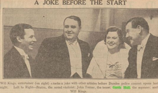 HALL, Garda - The Evening Telegraph and Post (Dundee, Scotland), Thur, Feb 24, 1938; pg. 6
