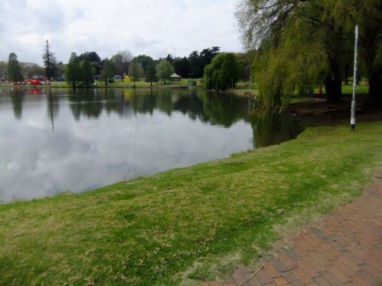 The lake at Rhodes Park. Photo: Errol Collen