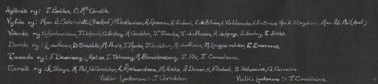 Names in the Athletics' photo