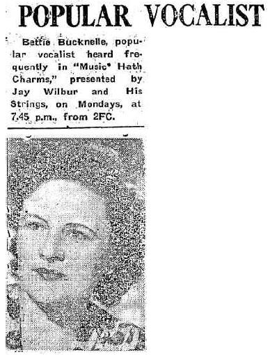 8 August 1953 Bettie Bucknelle Australia