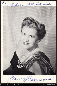 Australian Soprano, Joan Hammond.